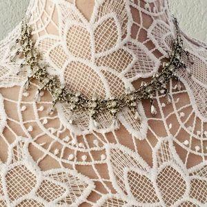 Dressy silver necklace